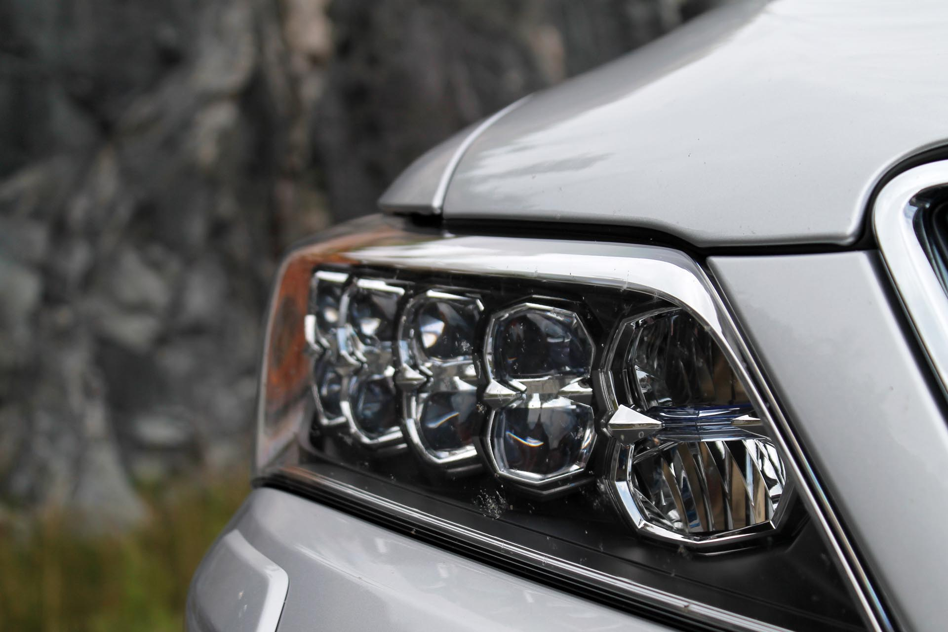 """Here's a new Acura, and its signature """"Jewel Eye"""" headlamps. Using LED technology, the automaker has created a unique looking headlight that turns heads while offering great forward illumination in the process. Each square-shaped segment houses a powerful LED cluster inside."""