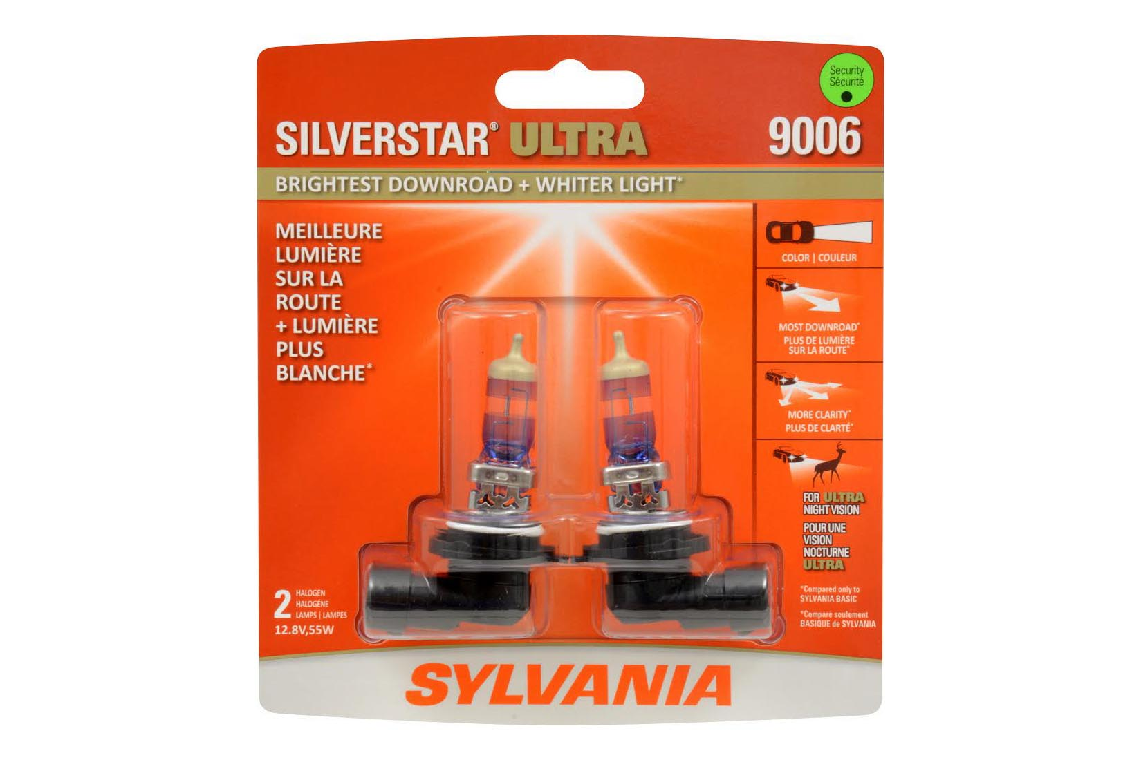 Here's a set of upgraded Sylvania halogen bulbs. As most factory halogen bulbs are built to a price-point and little else, companies like Sylvania have capitalized on the demand for improved lighting performance without extensive lighting system modification. A quality set of drop-in bulbs like these should improve lighting colour and saturation in most rides.