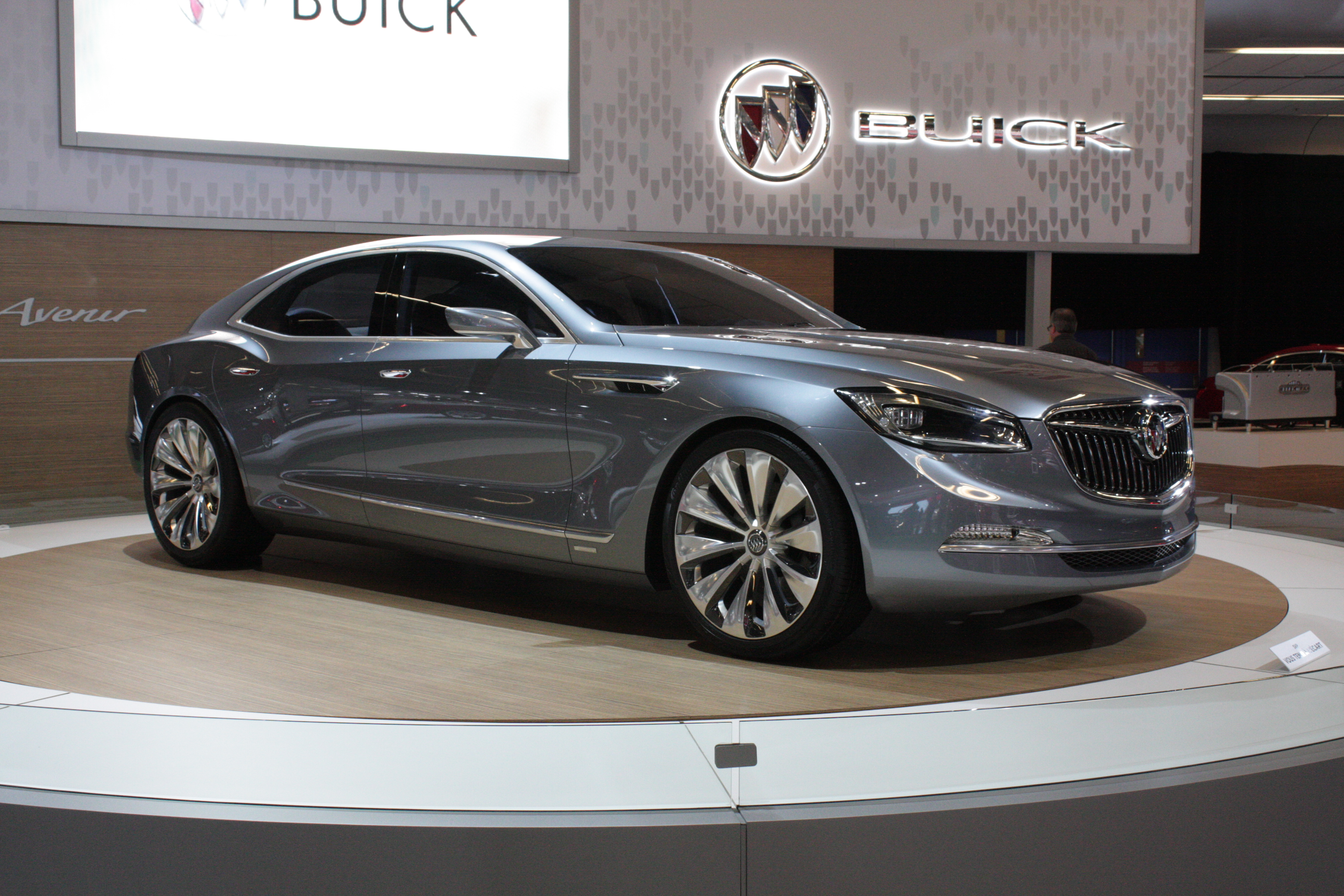 Buick is showing Montrealers its Avenir concept, a gorgeous sedan whose styling informs the forthcoming LaCrosse sedan. We hope it also signals the future addition of a full-size flagship model.