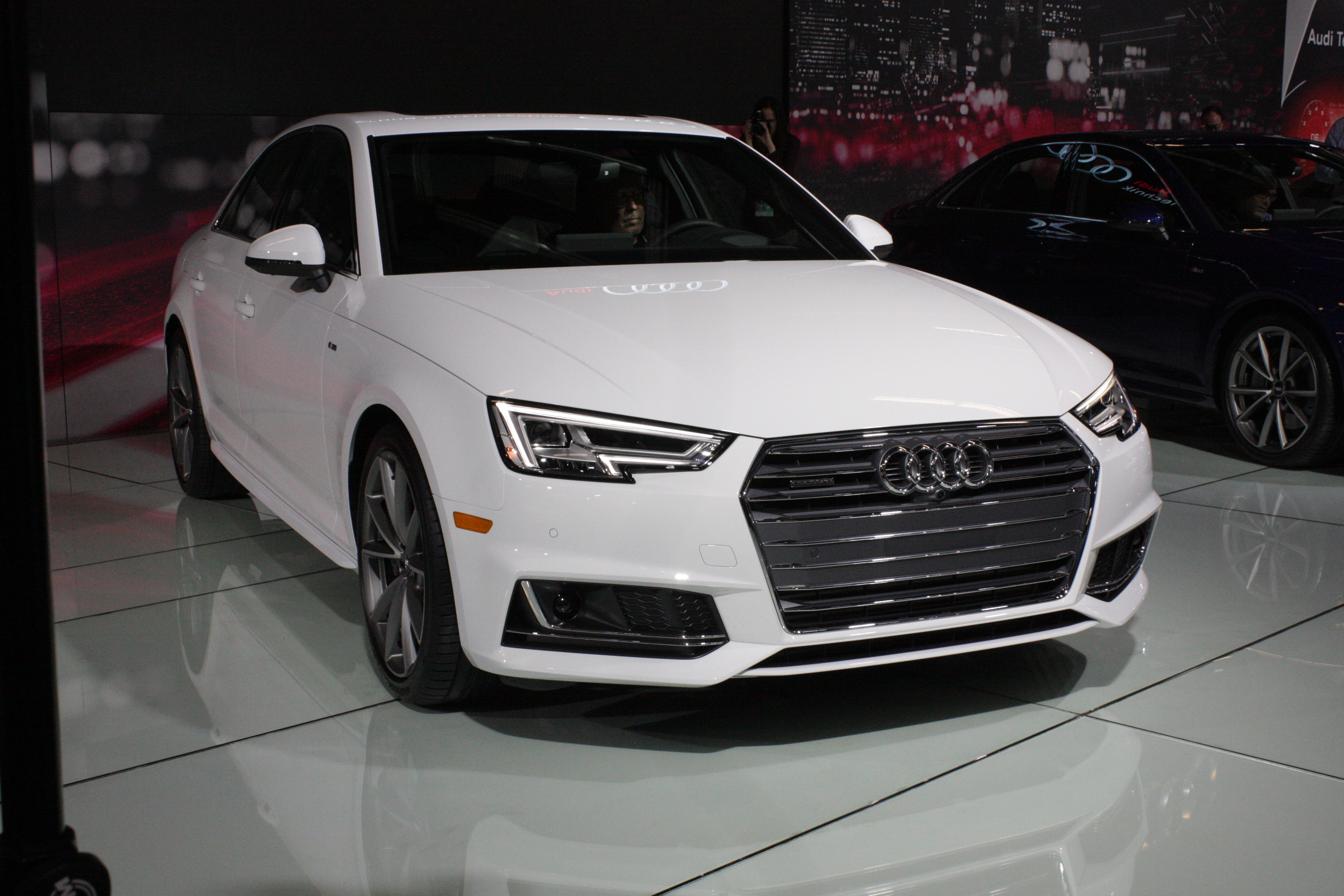 The latest generation of Audi's A4 compact sports sharp new styling inspired by the brand's recent concept cars.