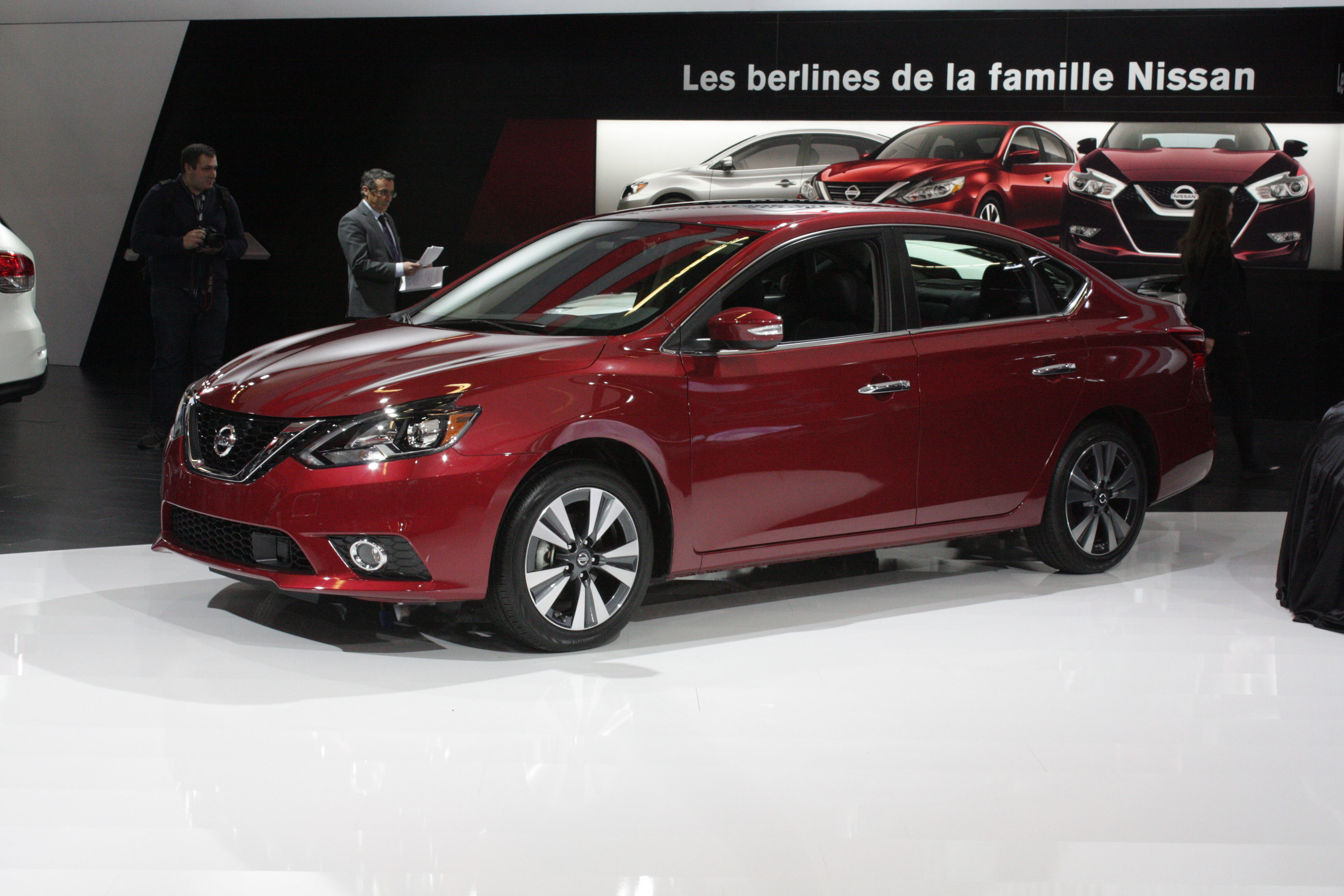 This Sentra is one of two other restyled Nissans being shown in Canada for the first time.