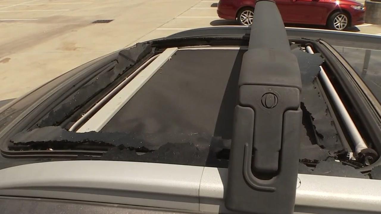 Kia Sorento shattered sunroof