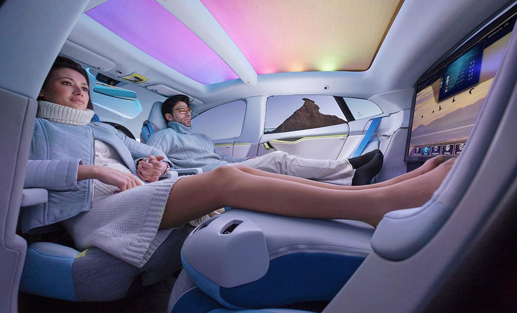 Unless you're eventually riding in a production version of Rinspeed's concept autonomous Tesla. Mr. Musk, by the way, just announced that his vehicles will be semi-autonomous <i>this summer</i>!  That one-ups all the other car companies who roll out their semi-autonomous vehicles in 2017.