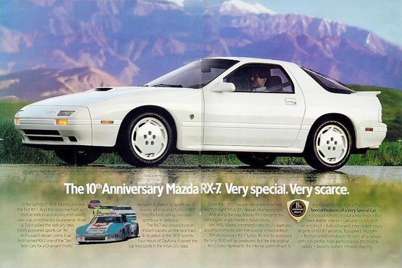 There are any number of speciality RX-7s to be found in Japan, but few here. While the third-generation car is bound for classic status – assuming you can find one that hasn't been blown up or modified to heck – how about a little love for an earlier turbo'd RX'7.