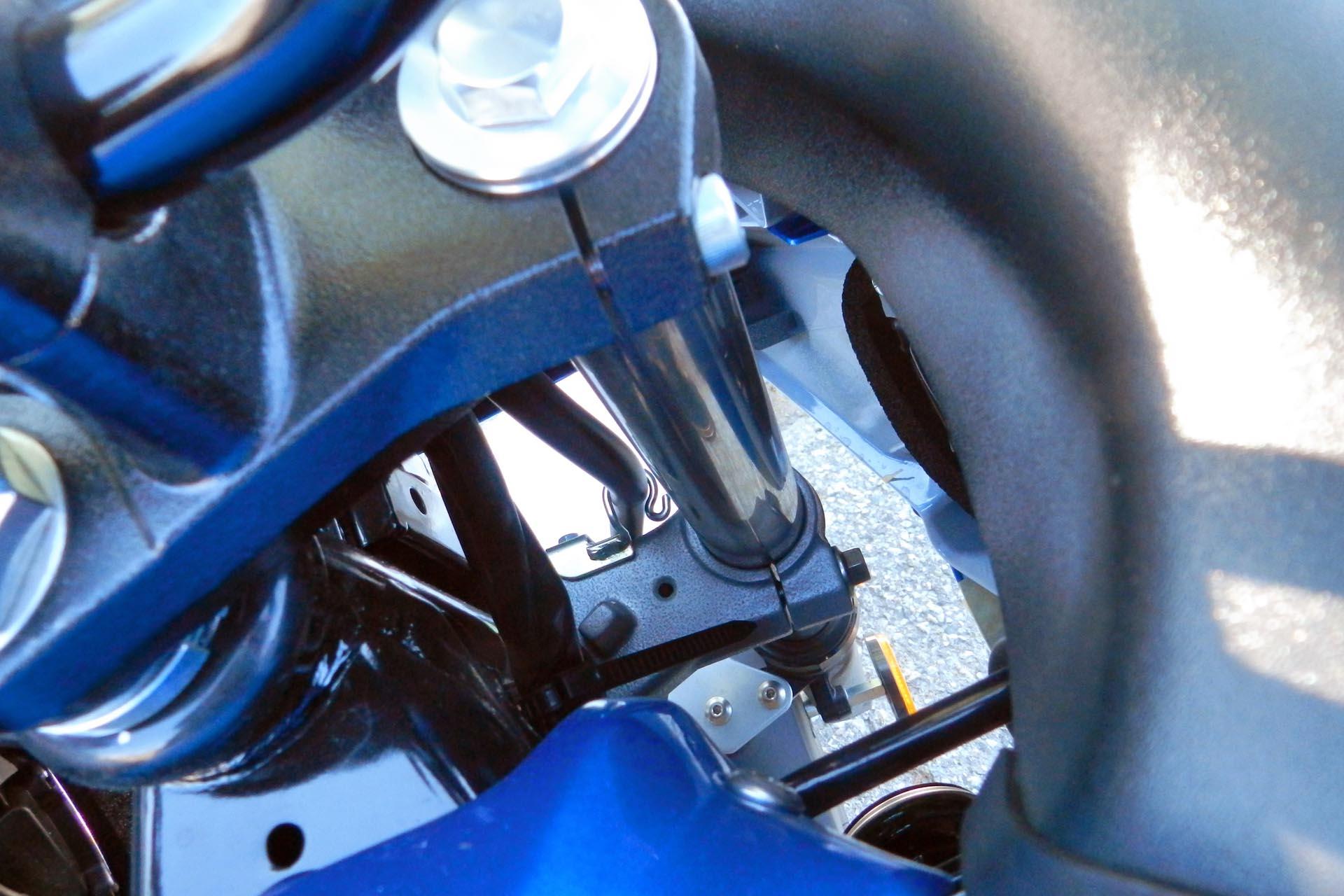 detail of front spring fork