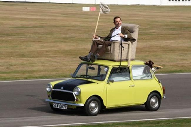 As much as his brown tweed suit and red necktie, Mr. Bean's Mini is a large part of his identity, in both his TV series and his two films. In fact, the car is a reflection of his identity. At first glance, Mr. Bean may look nerdy and small, but scratch away that surface and you'll discover a layer of cleverness that always finds a way to come out on top. Appearances can be deceptive.