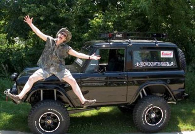 These days, for better or worse, Nugent is as well known for his outspoken hunting and gun-rights advocacy as he is for his music. Fittingly, his passion for those subjects matches that for his truck. In 1971 (just five years after the model debuted), Nugent bought his first Ford Bronco. It was a love to last. In the 44 years since, Nugent has owned a succession of seven Broncos... but as the model was discontinued in 1996 it's only going to get more and more difficult for him to continue that streak.