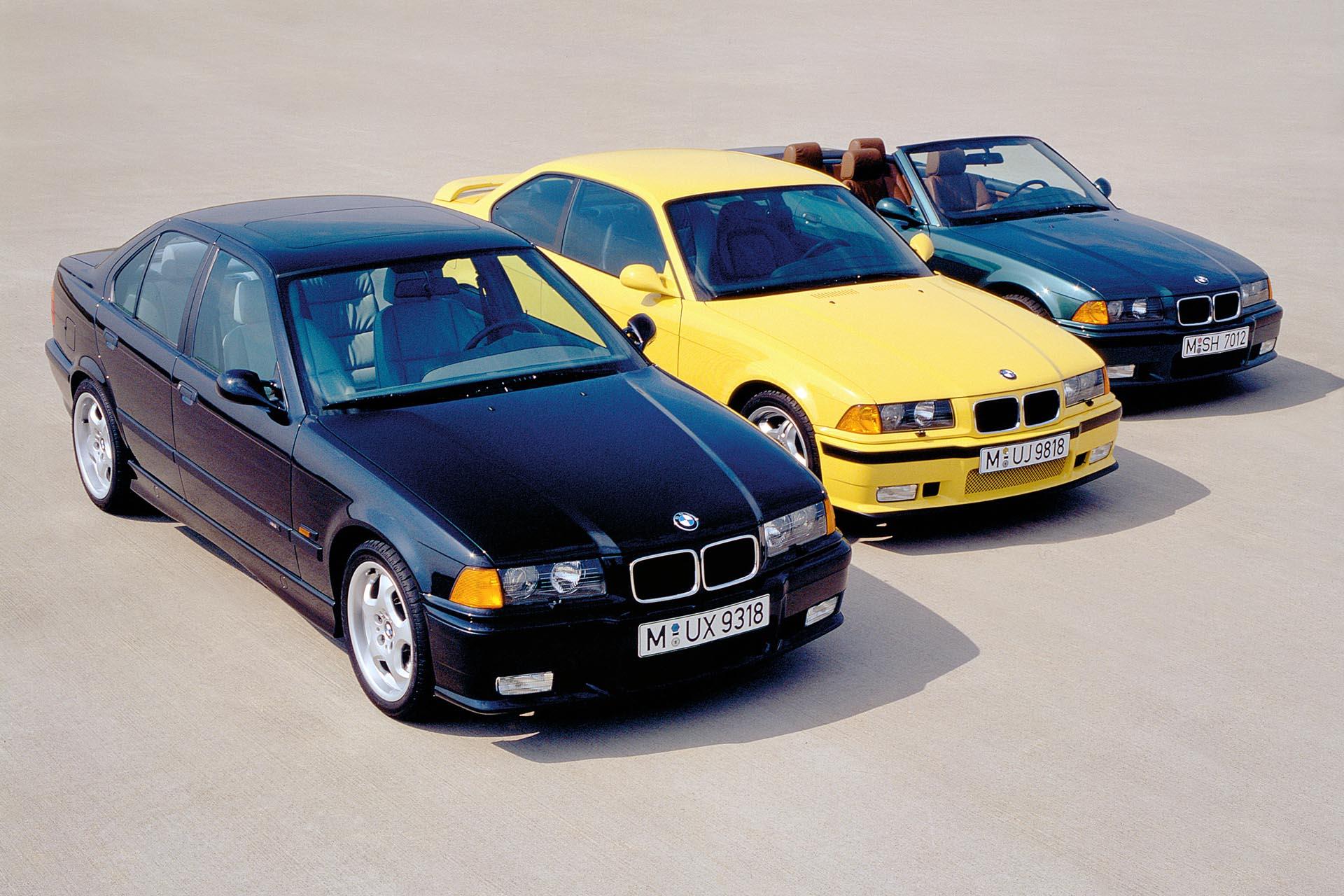left to right: sedan, coupe, cabrio