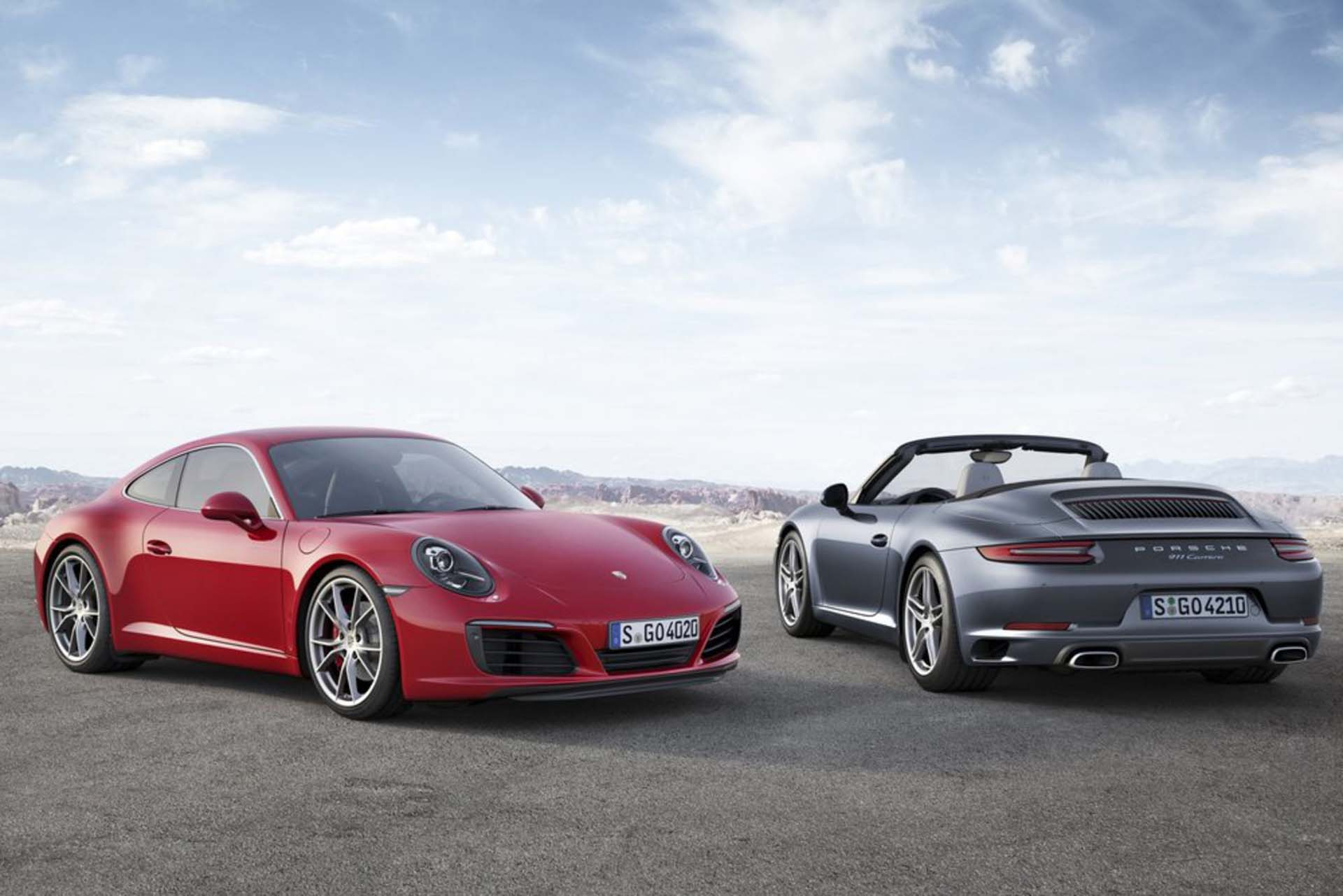 Incremental change is the 911 catchphrase, the honing of an original ideal over and over again until it's better: more efficient, faster, easier to drive. Somewhere in the 1970s, turbocharged power became the best way to get 911s to go quickly (in a straight line anyway). Now, the Porsche turbo era has fully arrived. Starting with the just-announced facelifted version of the 991-chassis Porsche 911, all Carreras will be turbocharged. The base engine is a 367-hp twin-turbo 3.0L flat-six, the S models get 414-hp version, and then of course there are the full Turbo and Turbo S at the top end. Expect the GT3 to remain the last unboosted 911.