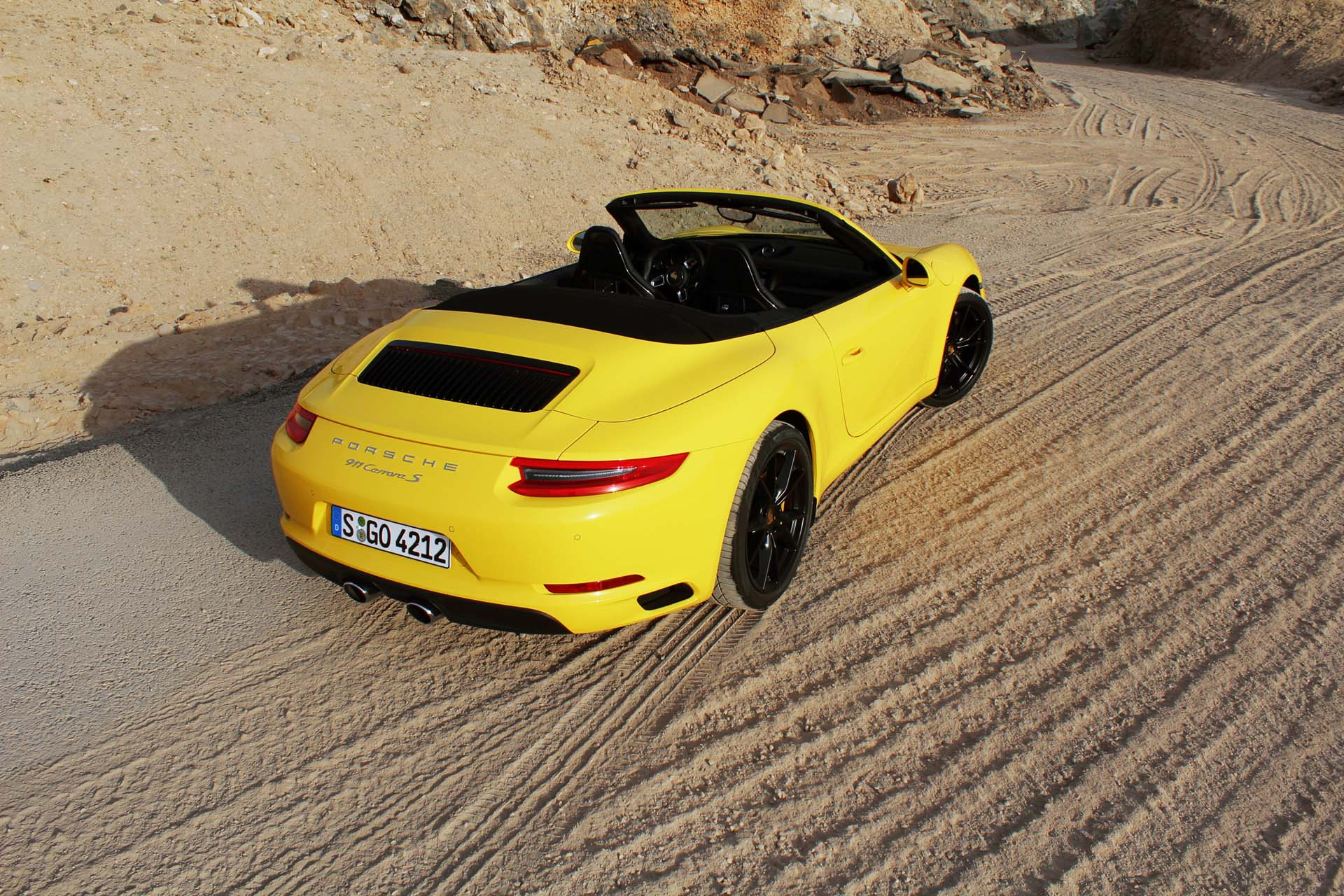 It's not all about the PDK twin-clutch automatic. The seven-speed manual has been revised for 2017 and it gets a lighter effort clutch. A fabulous gearbox. This manual-equipped yellow S Cabriolet was my favourite of the day.
