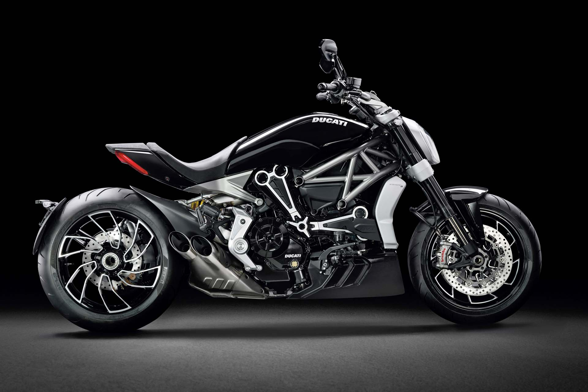 """It will do everything a cruiser won't,"" says Ducati, and if first impressions count for anything the Ducati xDiavel will be a bruiser when it hits showroom floors. The 95 lb-ft, 1,262cc engine is equipped with MotoGP-derived Ducati Power Launch software."