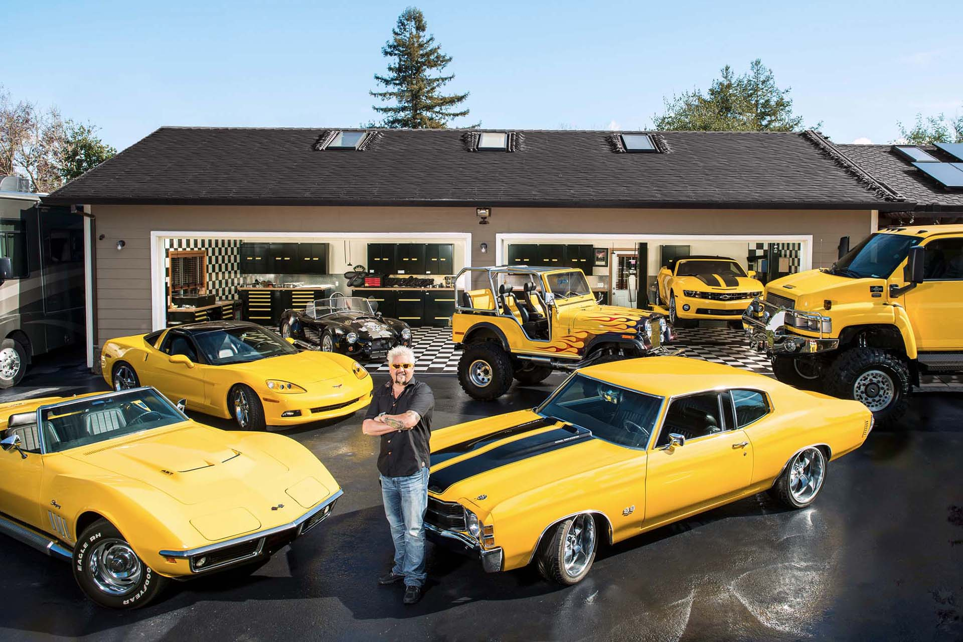 The flamboyant Fieri favours yellow automobiles, including a Camaro, Corvette, and a Lamborghini Gallardo. Incredibly, a few years ago, his Gallardo was stolen from a dealership by a 16-year-old, who was later sentenced to life in jail for other crimes.