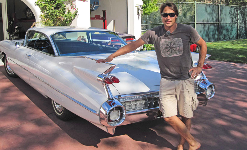 And the classic, a Cadillac Series 62 Coupe — we're sure he didn't get it just for the tailfin(n)s.