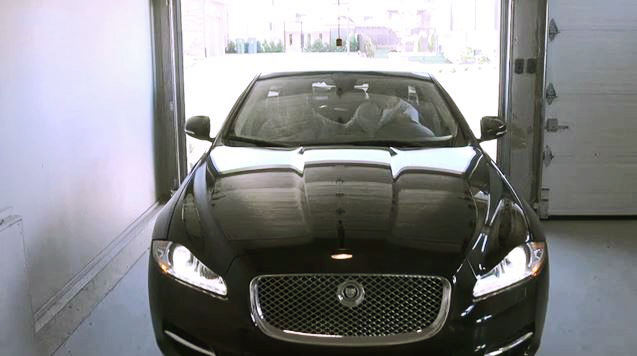 The Montreal Canadiens' defenseman has a fine taste in cars, having opted for a Jaguar, as seen in a video on the Canadiens' website. My only thought is that that's a pretty tight squeeze. Talk about little room for error. One slight misjudgement...