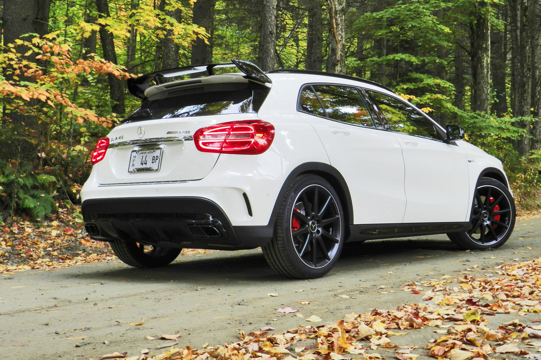 Rear three-quarter view. Wing spoiler part of optional Aerodynamics Package.