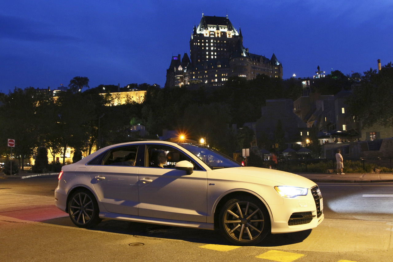 We spent an afternoon walking around the Old City, then after dinner cruised more of the old lower city admiring the view of Chateau Frontenac and the A3's ability to maneuver in tight quarters and to make use of even the smallest parking spots.