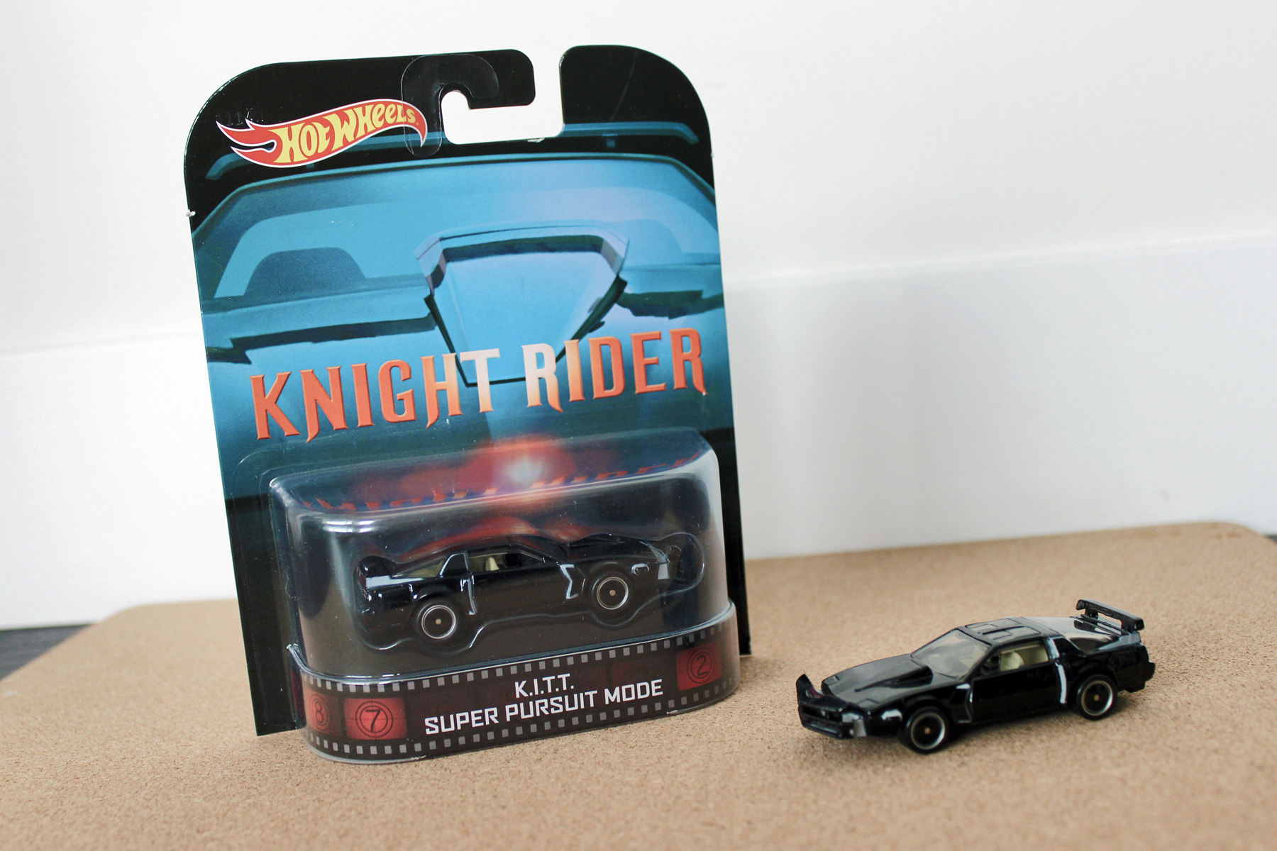 """While they have done both K.I.T.T. and its foil, K.A.R.R., they've even gone the extra mile and recreated an """"angry"""" K.I.T.T.: the Super Pursuit Mode version. It comes complete with raised front bumper and wing, and exposed air inlets. Doesn't talk, though. Shame, that."""