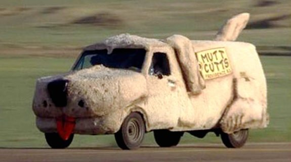"""A Ford Econoline only in name (also known as an """"'84 Sheepdog""""), Harry's famous company car should be a shoe-in for Hot Wheels lore.<br /> <br><br><br /> Not only is this the most famous car from the film (except maybe the Lamborghini Diablo they manage to procure thanks to a briefcase loaded with cash), it could very well be the most famous vehicle from the comedy genre, this side of the Wagon Queen Family Truckster.<br /> <br><br><br /> Question is, would Mattel pony up the dough to add floppy ears, a tongue and to finish the whole thing in fur?"""