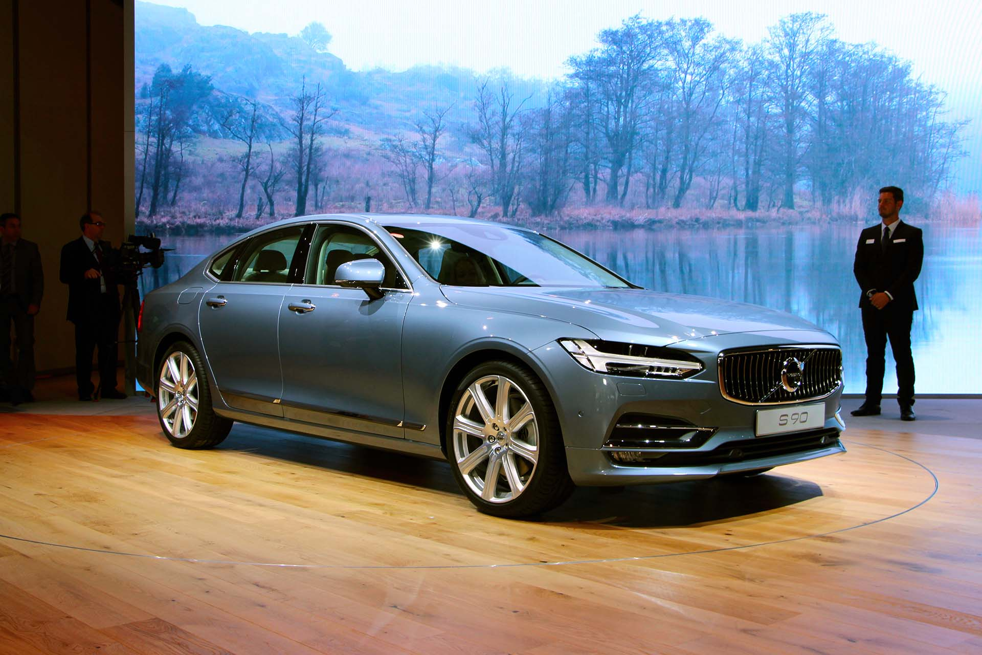 Volvo showed off the S90, with its signature Mjolnir headlights. It's a handsome look that works to convey an air of quiet confidence – the T8 hybrid manages 410 hp, so plenty of confidence on tap.