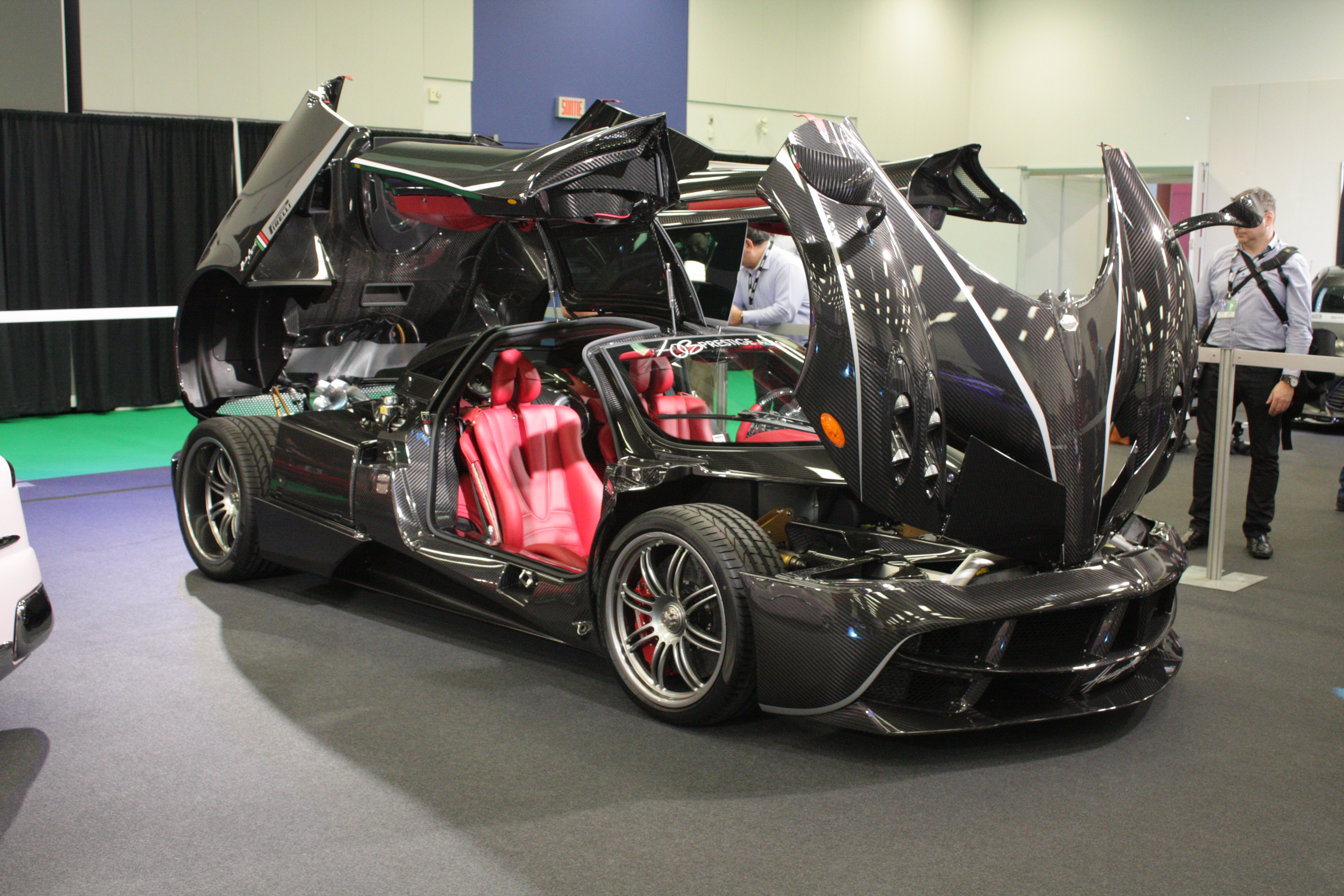 The Pagani Huayra is an Italian supercar powered by a Mercedes-AMG V12 engine.