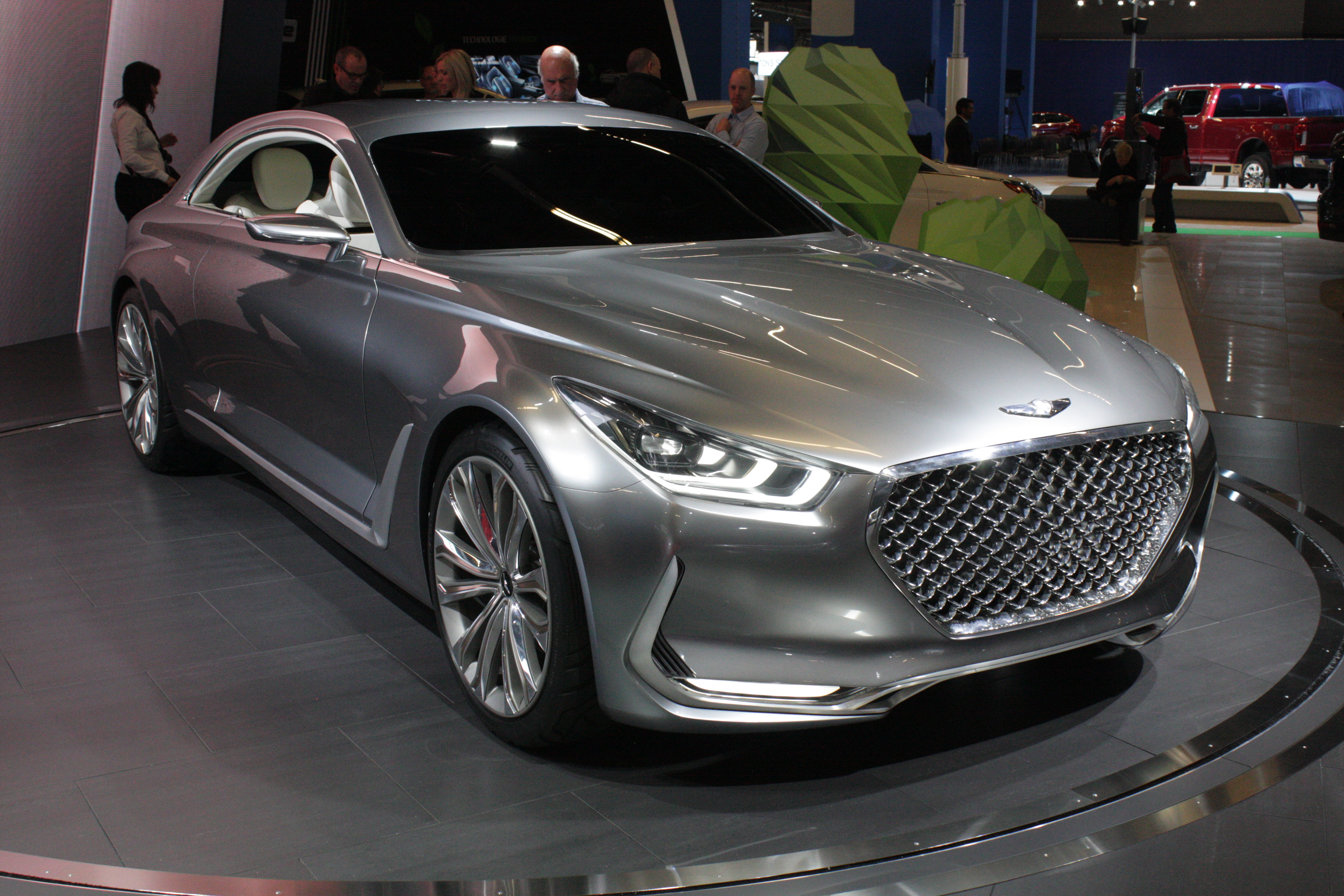 Hyundai also showed the Vision G Coupe concept, which shows what it has in mind for a future luxury coupe addition to its Genesis premium lineup.