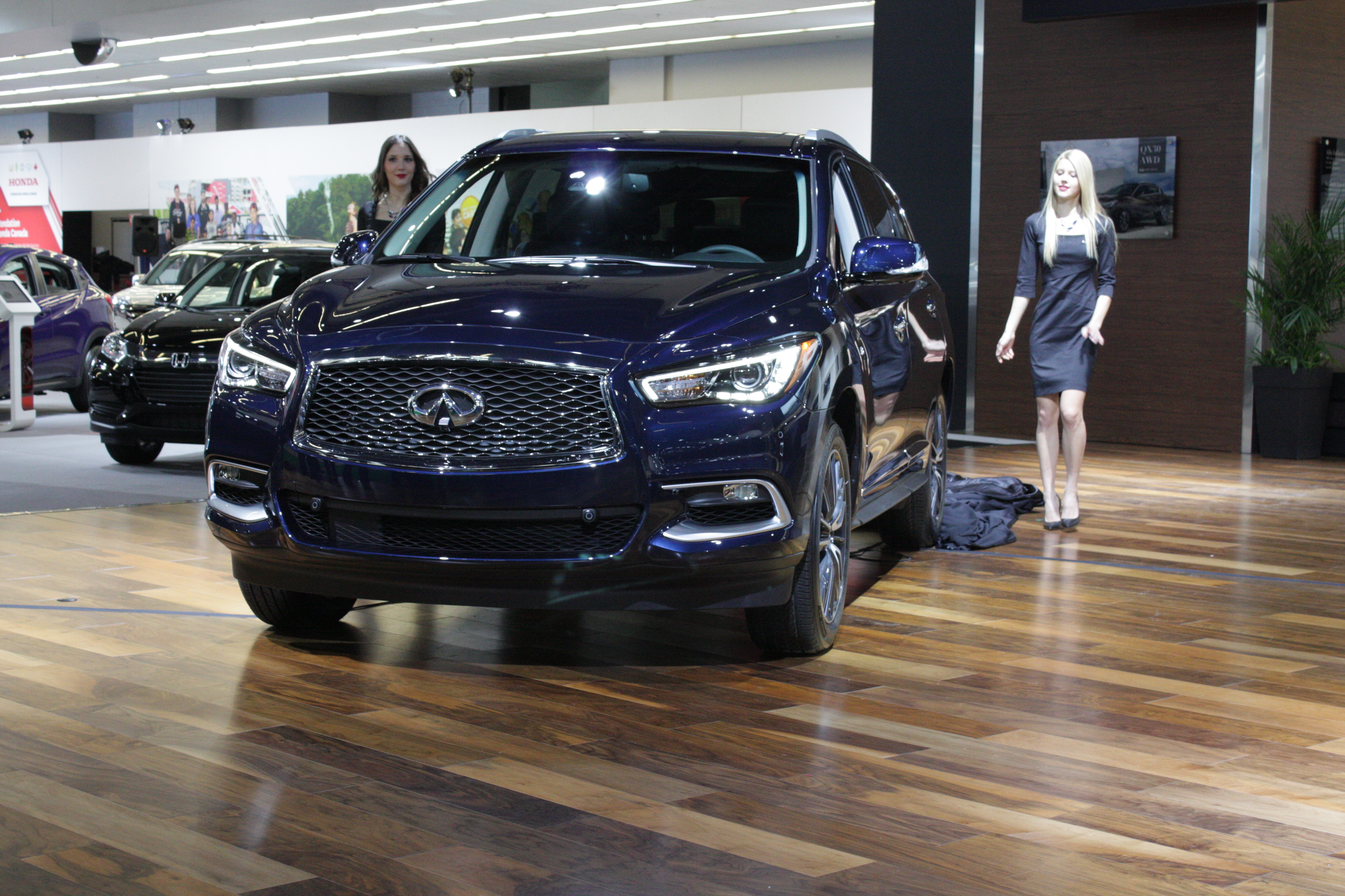 Also new from Infiniti for 2016 is a restyled version of the QX60 mid-size crossover.