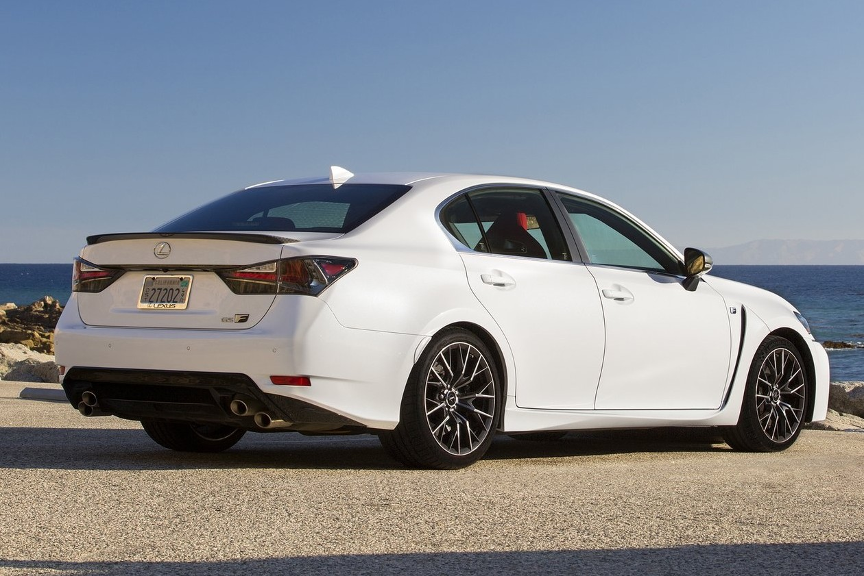 Lexus revealed a trio of models in Montreal that includes the V8-powered GS F high-performance sedan, and the less-extreme GS 350 (not pictured), which wears new styling for 2016.