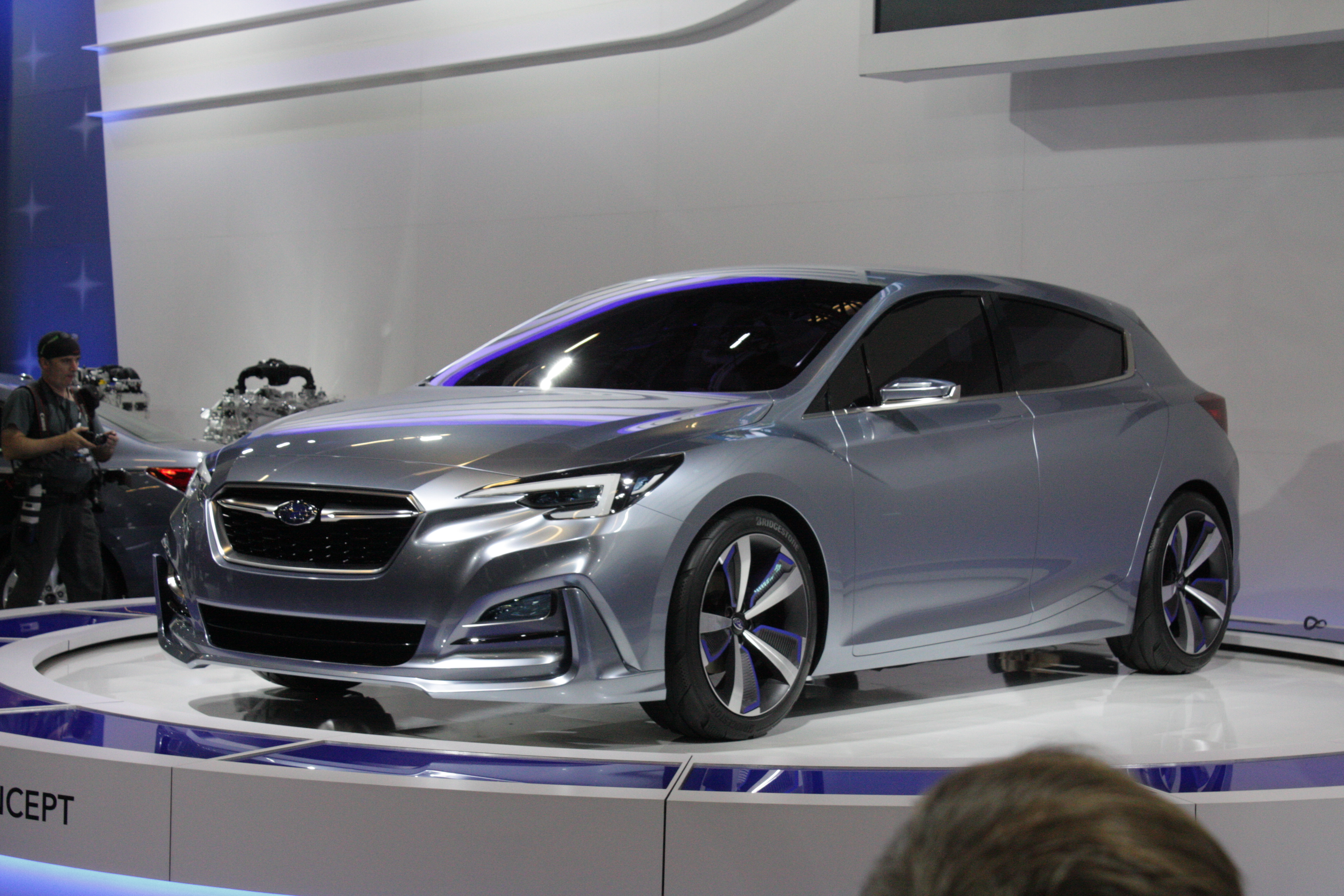 Subaru staged the North America reveal of its Impreza hatchback concept, a sharp-looking car that previews what we can expect the next generation of this compact car to look like.