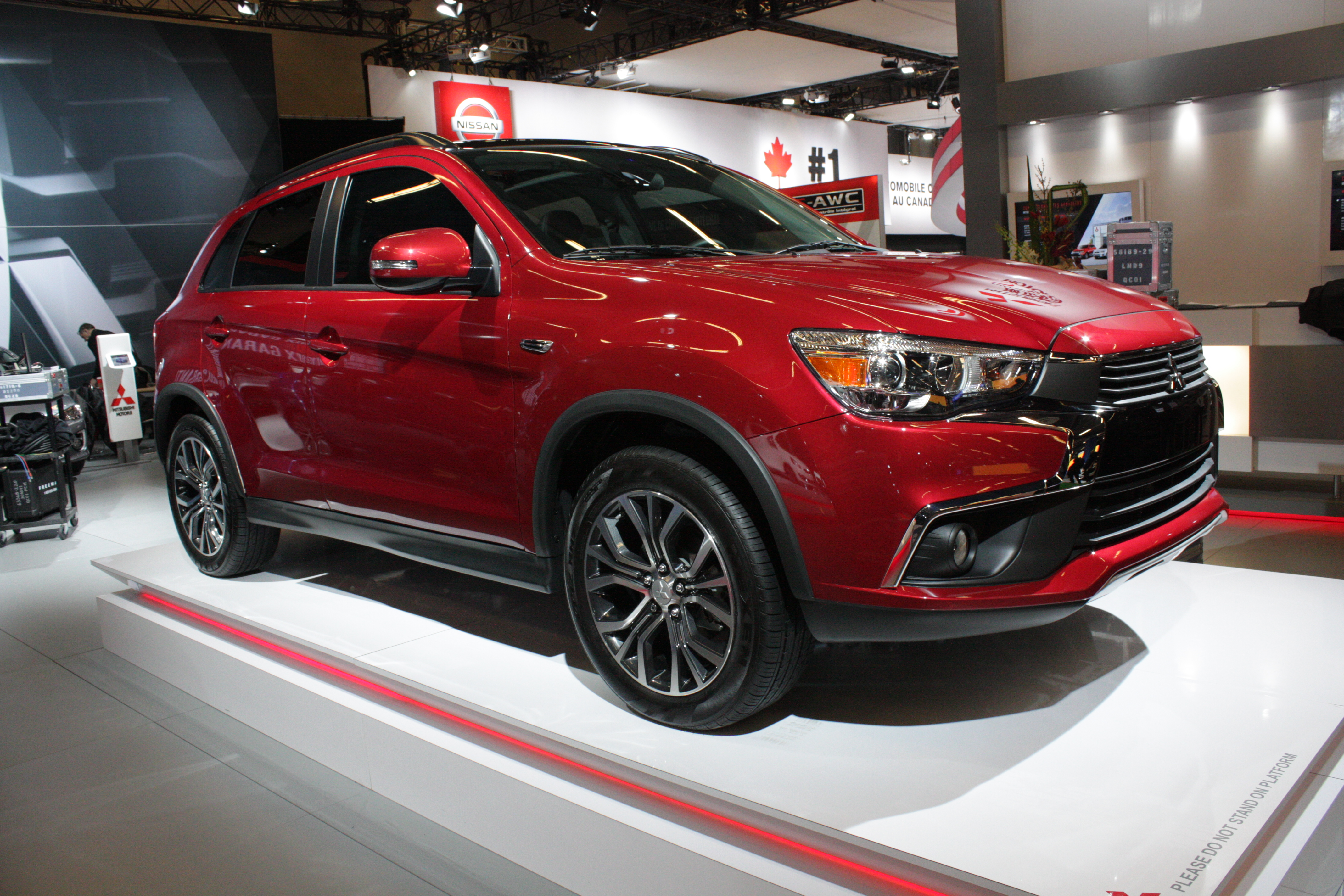 Mitsubishi showed a trio of models basking in the glow of Canadian auto show lights for the first time. One is the significantly-updated RVR compact crossover...