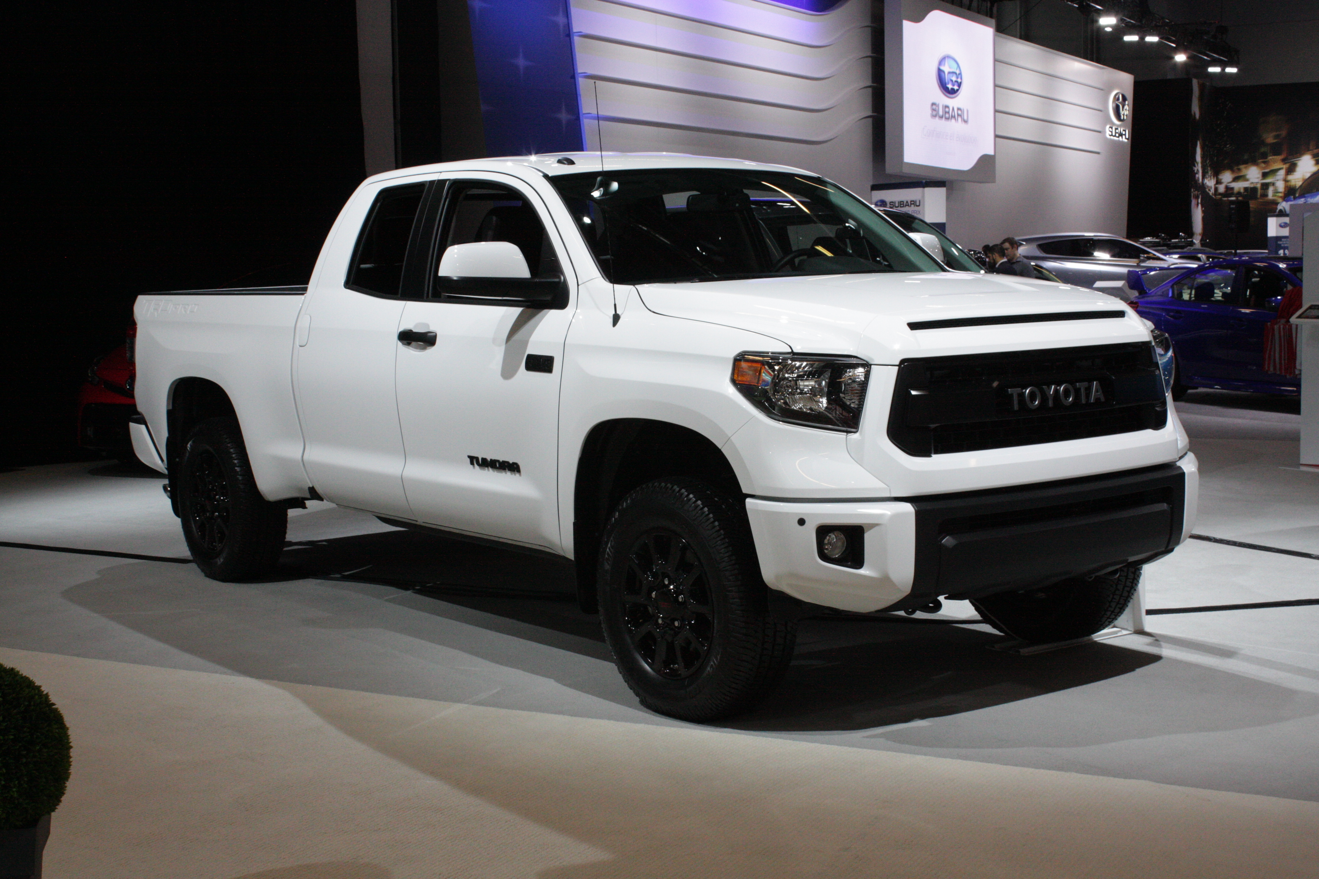 ... and the Tundra full-size pickup in TRD PRO trim.