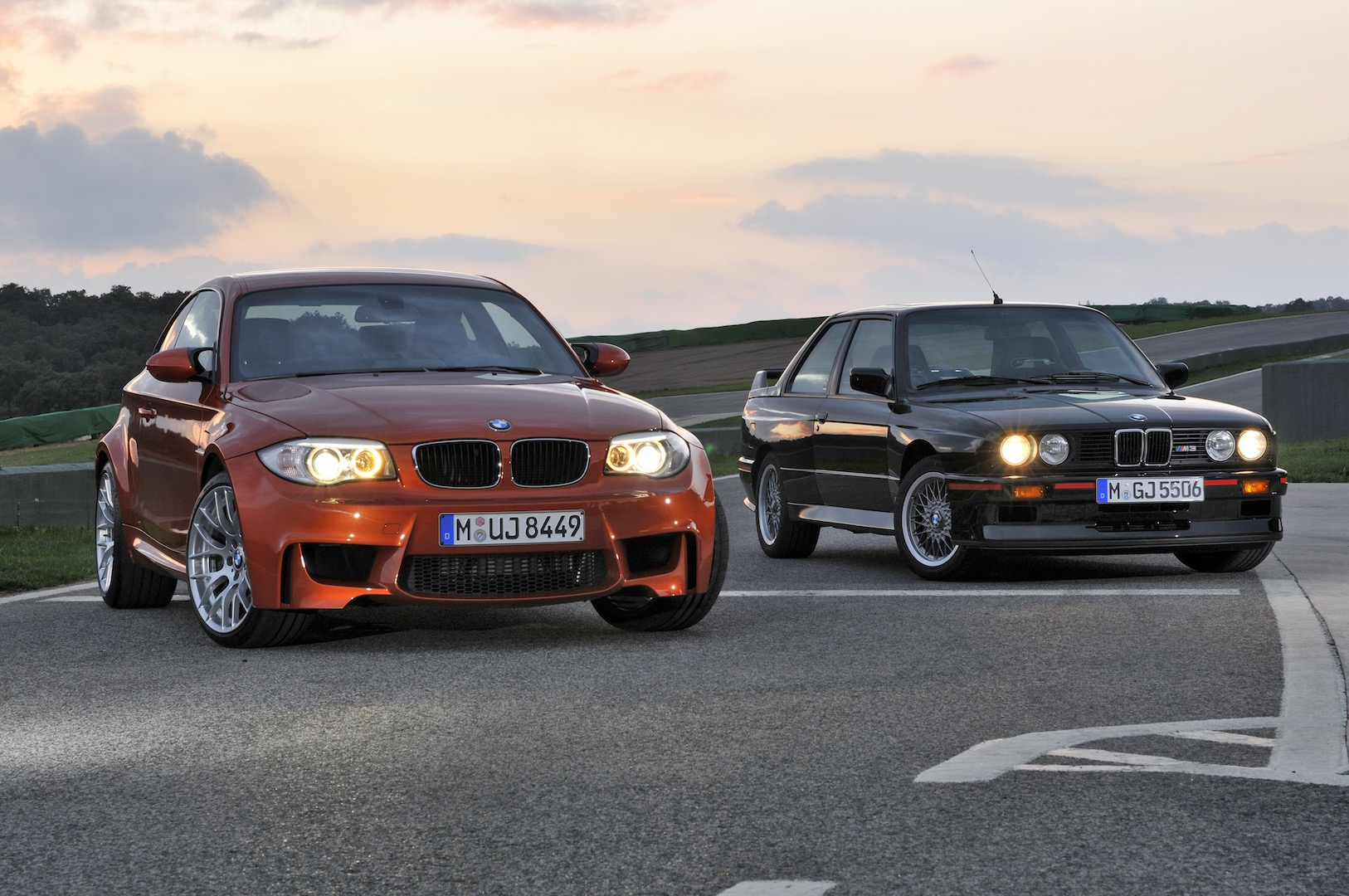 BMW 1 Series M Coupe and BMW M3 Sport Evolution.