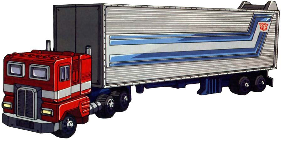 Optimus Prime from the cartoon