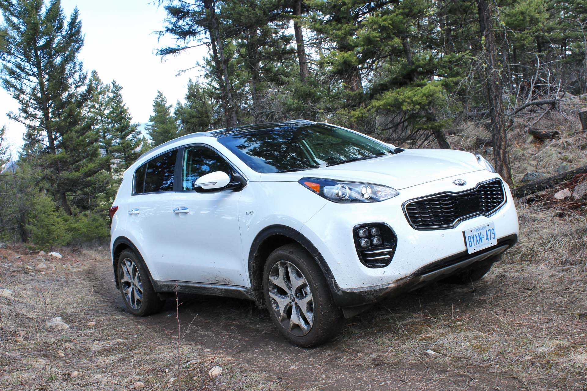 The 2017 Sportage's Dynamax intelligent AWD allows for a 50:50 front:rear torque distribution, a locking centre diff and hill-descent control, standard on all AWD models. In normal driving, torque sits at 95:5 front:rear, but automatically responds to wheel slippage.