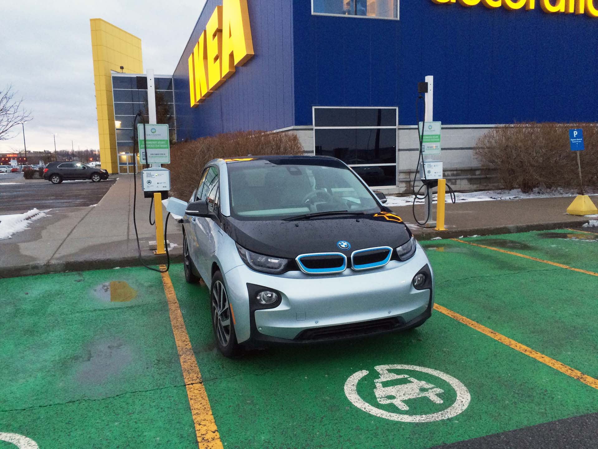 charging at Ikea lot