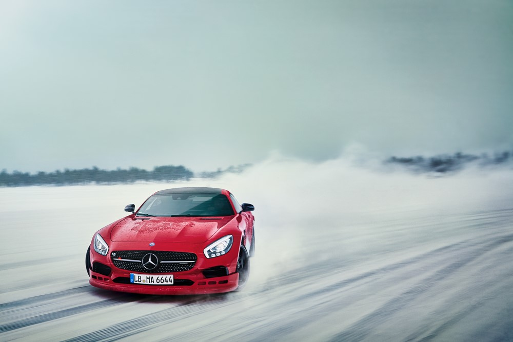 The AMG Winter Sporting Driving Academy will be available in Canada in 2017.