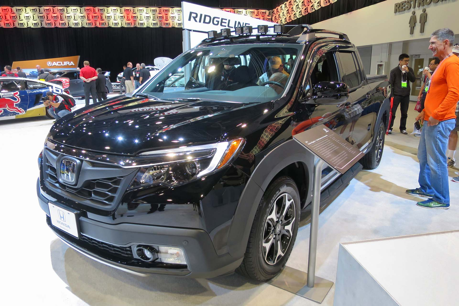 New accessories for the 2017 Honda Ridgeline include clearance lights and a hard tonneau cover.