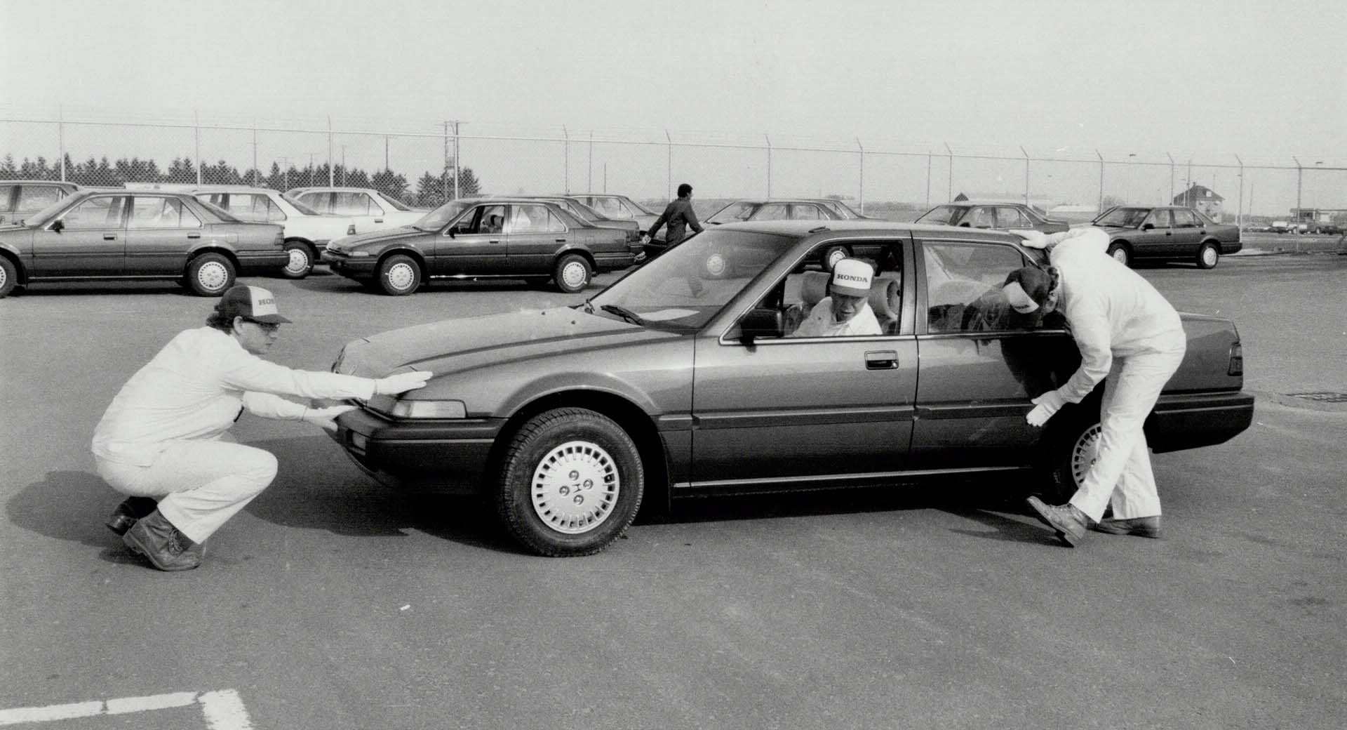 Canadian production of the Honda Accord began November 1987 in Alliston, Ontario.