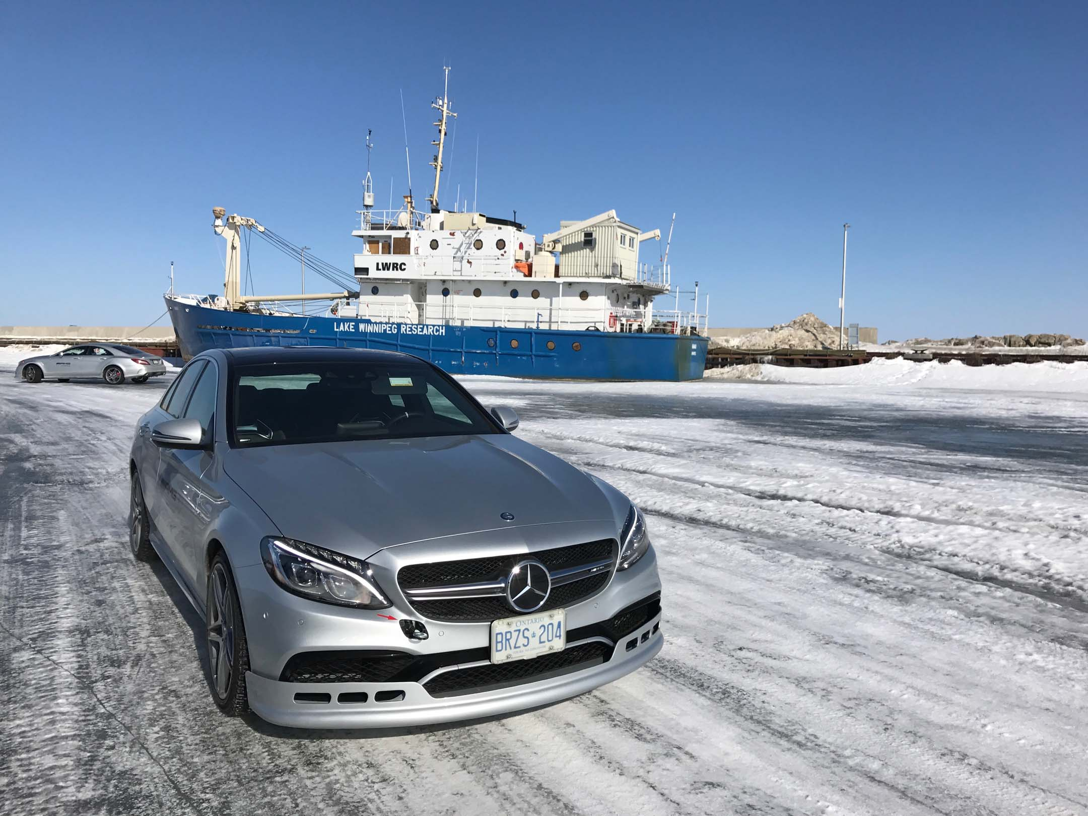 Lake Winnipeg Research ship with AMG carbon front lip