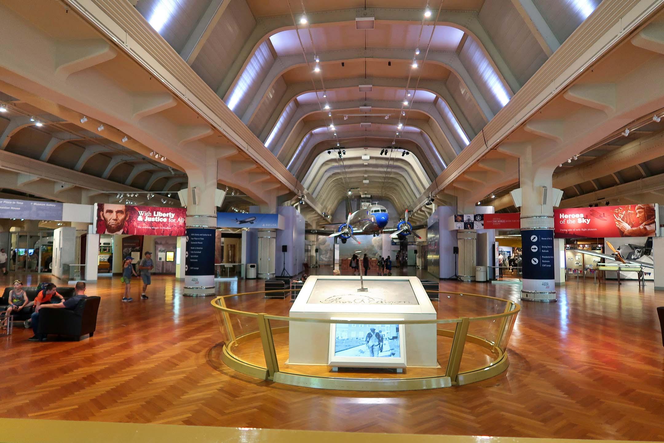 One of the museum's main hallways
