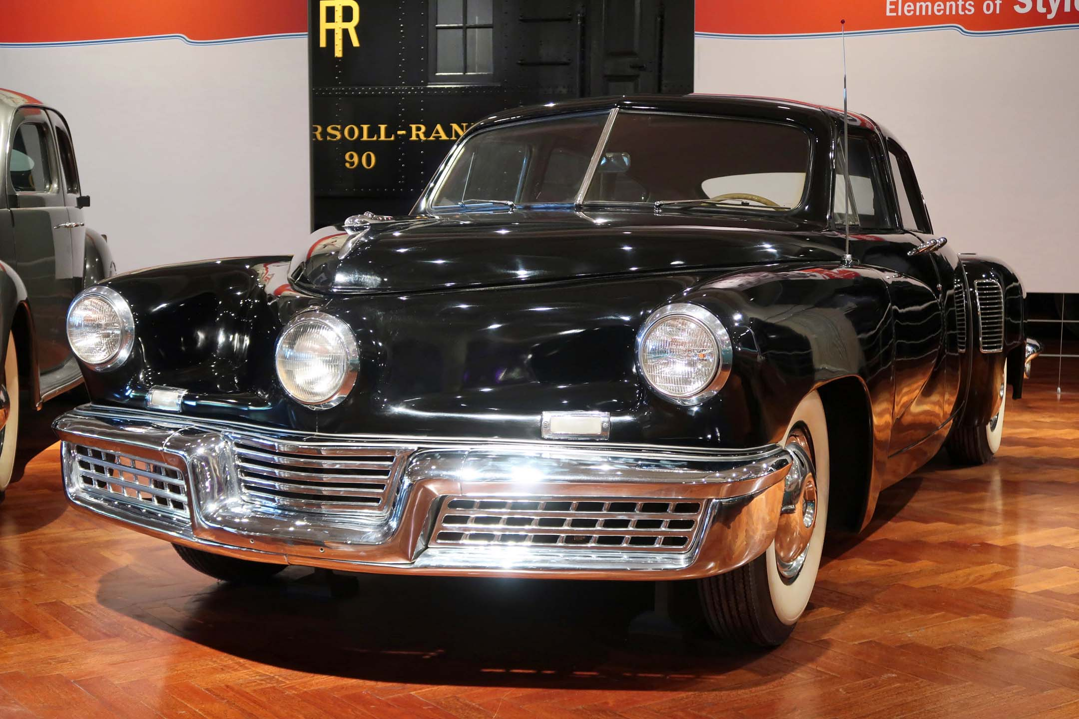 The 1948 Tucker never went into production, but the museum owns one of the 51 prototypes made