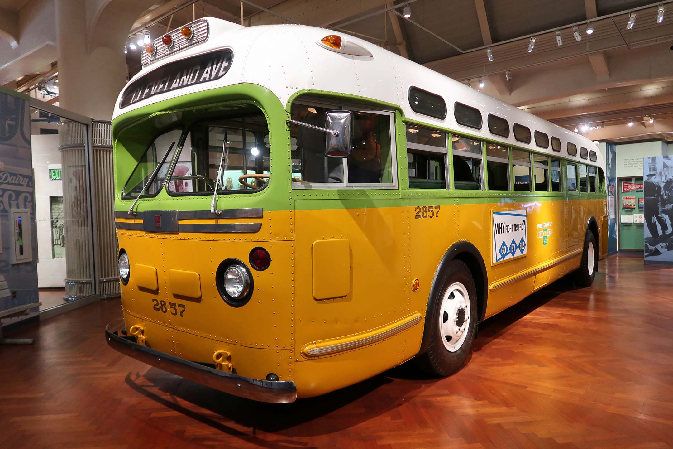Rosa Parks refused to give up her seat on this bus, which ultimately led to desegregation on the bus line