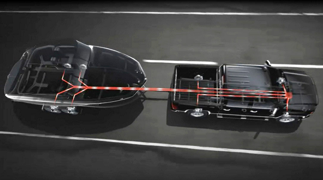 Trailer Sway Control (TSC) builds on the ability of your ride to manipulate vehicle handling characteristics using the brake system. When towing, special sensors detect the dangerous action of a swaying trailer, and create a special brake pulse pattern in the tow vehicle to counteract it. This is automatic, highly effective, and starts to happen at a point where the driver isn't even likely to know the trailer is beginning to sway. Translation? With a few extra sensors and some computer programming, control of the vehicle brakes, on a wheel-by-wheel basis, can increase safety while towing, too.