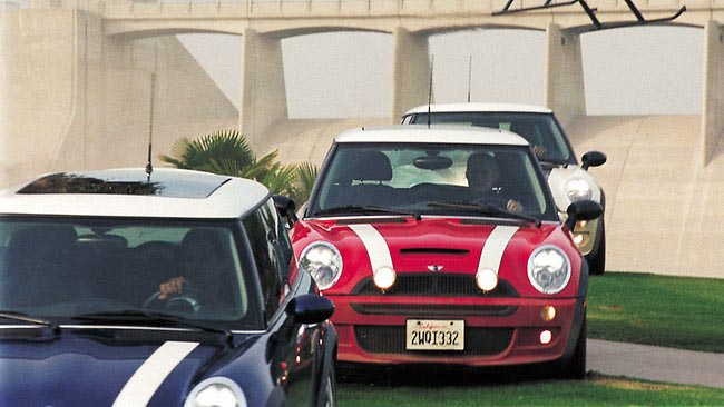 In 2003, when Hollywood decided to update the original movie, the producers wisely realized that the Mini Coopers had been cast members in their own right, just as important as the human actors. It's important to note that this isn't really a remake, as the plot bears very little similarity to the original, with most of the action actually set in Los Angeles. (Only the opening sequence takes place in Italy.) Once again, the climax features a Mini Cooper chase scene, this time in the subway tunnels of L.A. To shoot in those places, where gasoline-powered motors are forbidden, the Coopers had to be specially outfitted with electric motors. Now that's a collector's item.