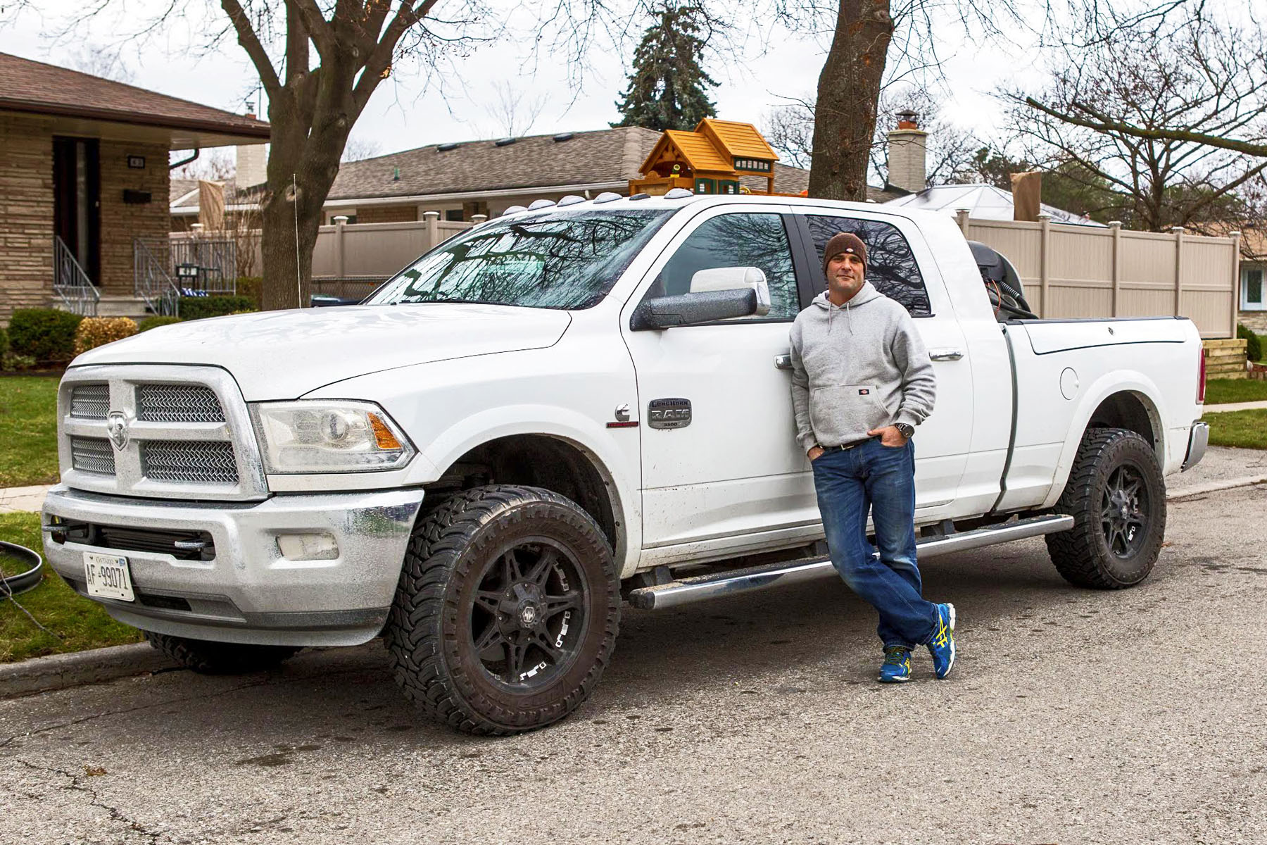 """Now for some Canadian content. Home-renovation expert and Gemini-award winner Bryan Baeumler has spoken to autoTRADER.ca regarding his love for his Ram 3500. """"Since I was a little kid,"""" he said. """"Dodge had the look."""" It's not just puppy love though, or a statement of strength, his truck is also of much practical use. In addition to being a TV host, Baeumler also runs his own construction outfit, which of course demands a large vehicle."""