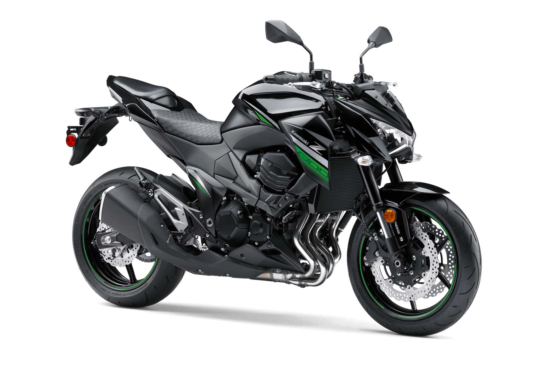 The latest Japanese make to bring a naked sport bike to North America, Kawasaki gives us the Z800, well priced, well powered and just plain good looking. Standard luggage hooks, low flat handlebars and a punchy 806 cc engine make this an entertaining commuter bike.