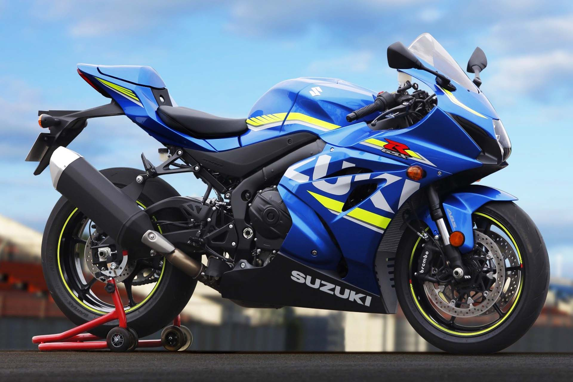 Suzuki's iconic GSX-R1000 gets a big upgrade late in 2016 for the 2017 model year. The newest iteration will have a variable valve timing-equipped 999cc engine good for around 200 hp, with a ten-stage traction control system. However, it won't have an inertia measurement unit <em>a la</em> the Yamaha YZF-R1 or the Ducati 1299 Panigale, which means a less electronics-heavy riding experience. Showa Balance Free Forks with a remote damping valve and similarly setup rear shock should improve ride comfort at low speed and grip at high speed.
