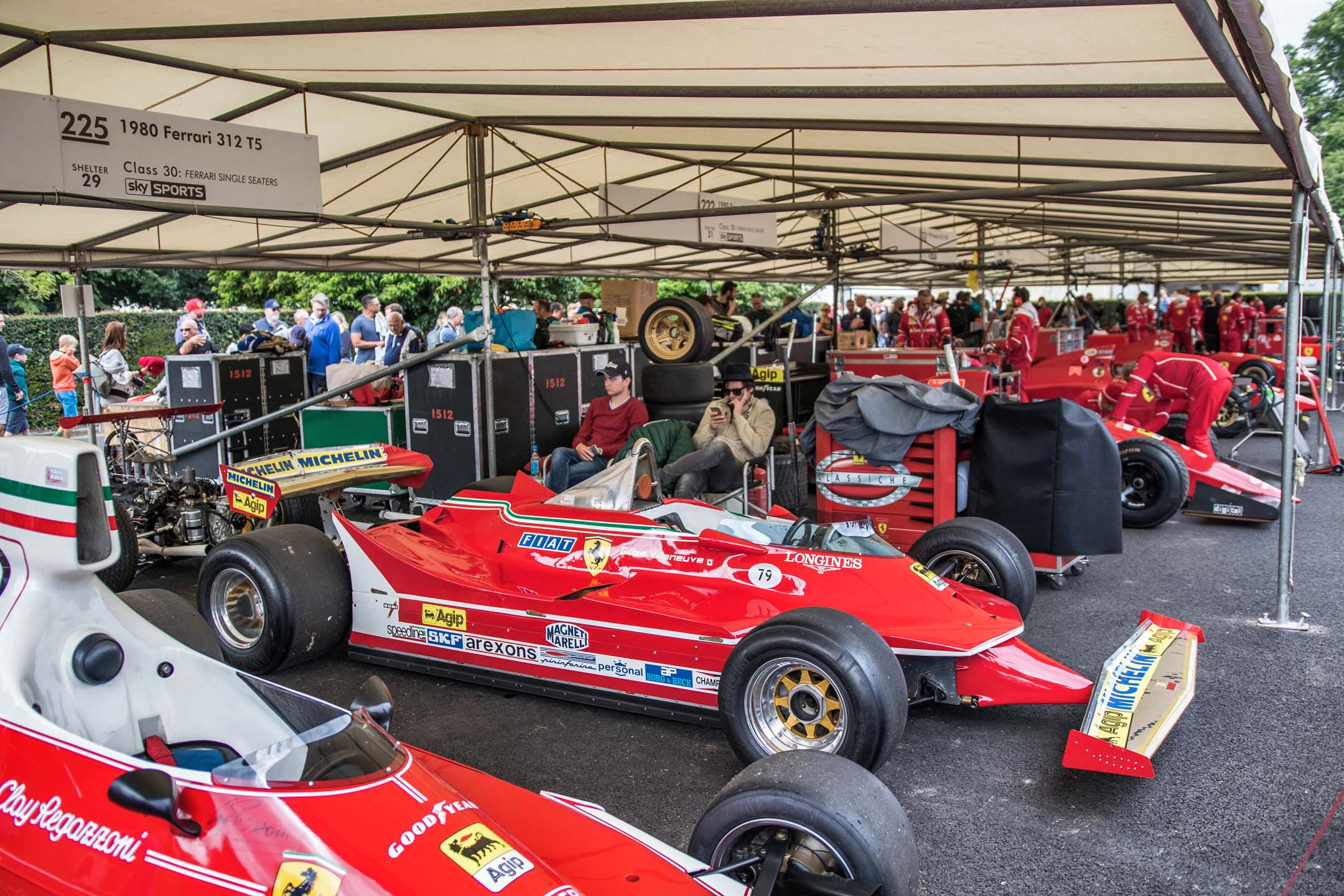 A little Canadiana, tucked in among the Italian section. The F1 car in-frame is one of Gilles Villeneuve's racing machines, and seems to fizz with the diminutive French-Canadian's energy.