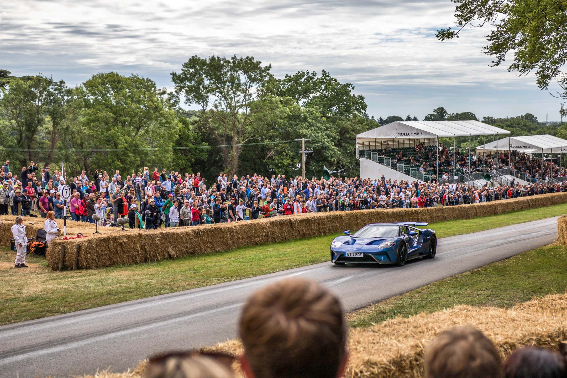 Along with all the historic stuff, a new challenger appears. The Ford GT attracted plenty of crowds in the paddock, and practically flew up the hill. Not too many onlookers seemed to know it was built in Canada.