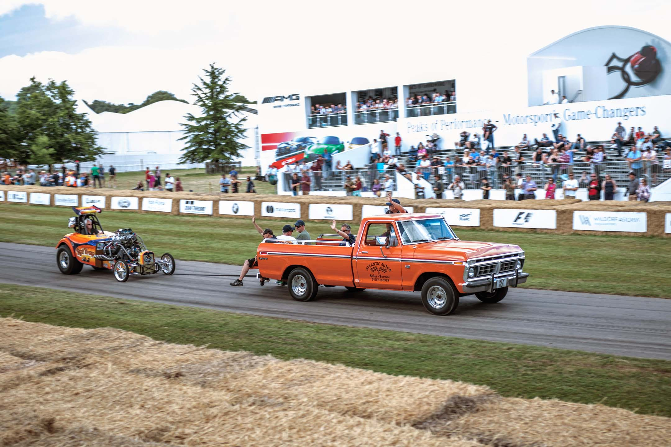 A common sight at any North American historic drag race, this F-150-towed dragster showed up at Goodwood like the proverbial bull in a china shop. Nobody seemed to mind the broken crockery everywhere.