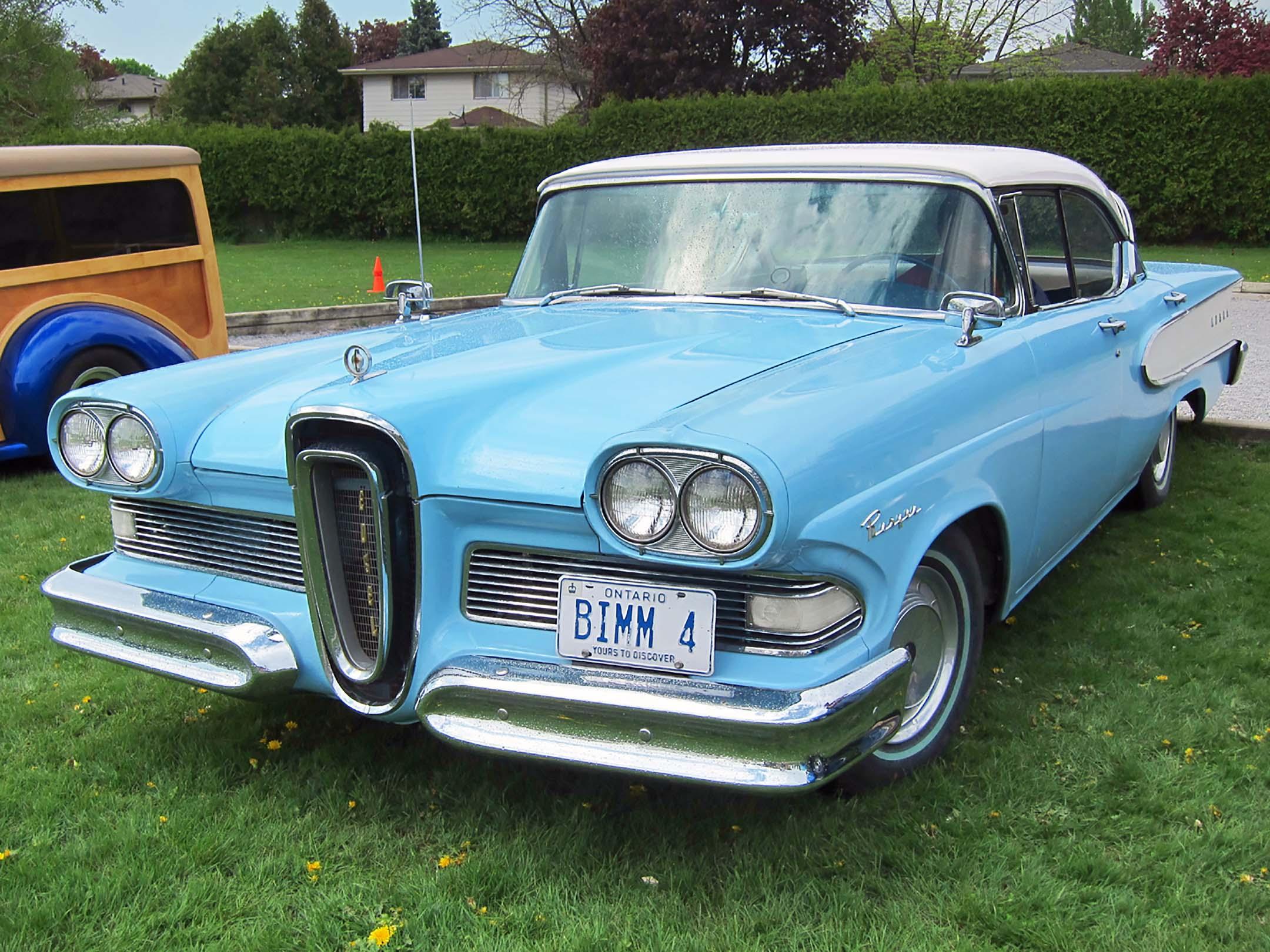 Edsel Citation Car Advertisement Sedan Blue Long Body Urban Tee